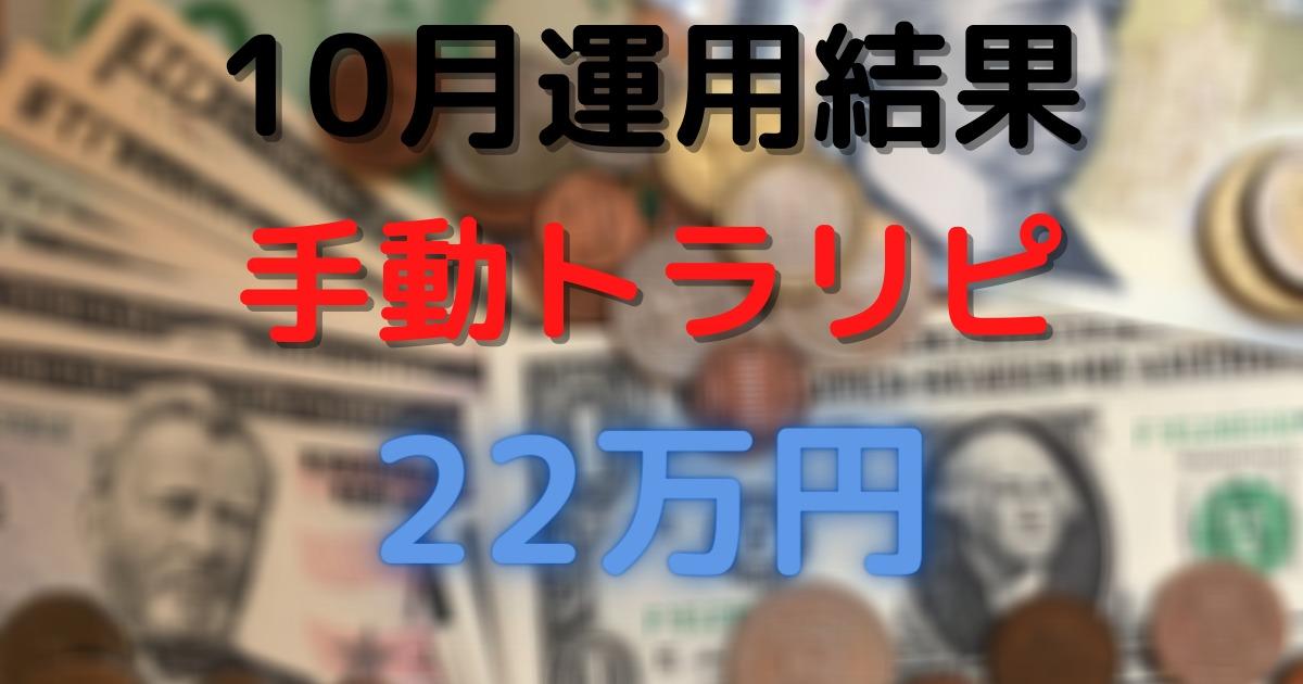【20年10月実績】メキシコペソ/オージーキウイ 手動トラリピ