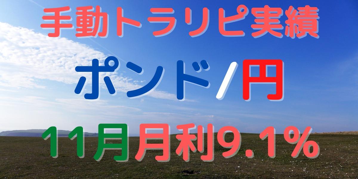 【投資実績】ポンド/円 手動トラリピ やり方/設定も公開!